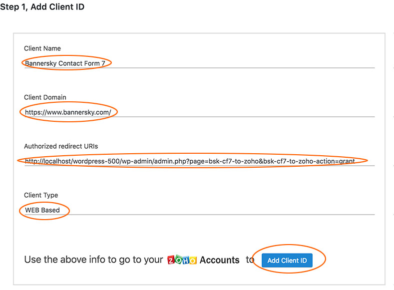 How to connect to Zoho API 2 0 - BannerSky